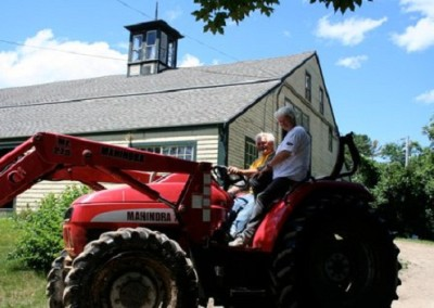 Peter and Elaine on the Tractor